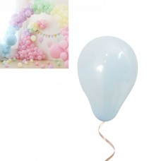Latex Balloons - Macaron 12cm - 20 pieces- light blue