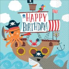 16 Napkins Ahoy Birthday 33 x33 cm
