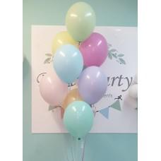 Pastel Balloons Mix 30cm -8pcs