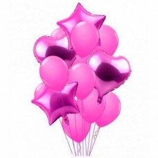 Balloons bouquet Hot Pink -12pcs