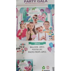 Party set with 31 pcs - Mermaid