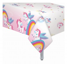 "Foil table cover ""Rainbow Unicorn"""