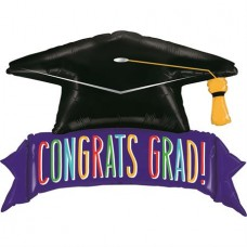 "Congrats Graduation Banner 114 cm - 45"" Single Pack"