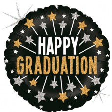 Glittering Graduation Stars 45cm Single Pack