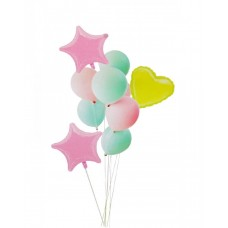 "Balloon bouquet ""Macaron"" pastel colors, 10pcs"