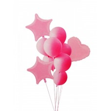 "Balloon bouquet ""Macaron"" light pink, 10pcs"