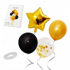 Balloon bouquet - gold, 7 pcs