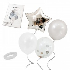 Balloon bouquet - silver, 7 pcs