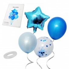 Balloon bouquet - blue, 7 pcs