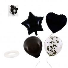 Balloon bouquet Black, 10pcs