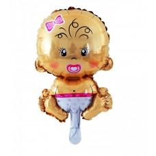"Foil balloon 14"" FX - Baby Girl"