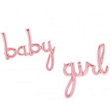 """Foil Balloon """"Baby Girl"""", 98cm x 65cm - 90cm x 64cm"""