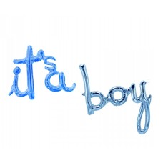 "Foil Balloon ""It's a Boy"", blue, 68cm x 57cm - 80cm x 79cm"