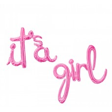 "Foil Balloon ""It's a Girl"", pink 68cm x 57cm - 90cm x 64cm"