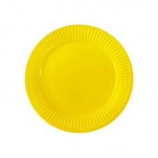 Paper party plates, yellow, 23cm, 10 pcs