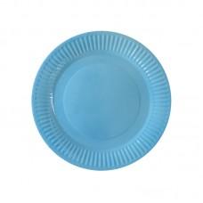 Paper party plates, light blue, 23cm, 10 pcs