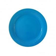 Paper party plates, blue, 23cm, 10 pcs