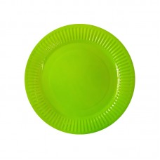 Paper party plates, green, 23cm, 10 pcs