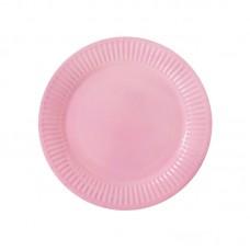 Paper party plates, light pink, 23cm, 10 pcs