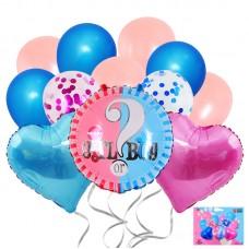 """Balloons set Gender reveal """"Boy mor Girl"""", 12pcs"""