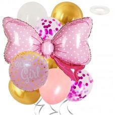 Balloons Set Its  a Girl, 9 pcs