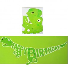 Giant banner Happy Birthday Dinosaur