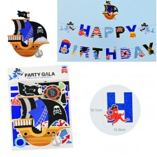 Banner Happy Birthday Nautic/pirate, 4.5m