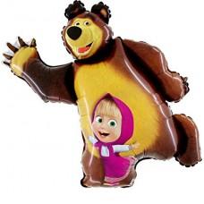 "Masha and the Bear Foil Balloon 40"" Unpackaged"