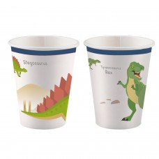 8 Cups Happy Dinosaur Paper 250 ml