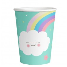 8 Cups Rainbow & Cloud Paper 250 ml