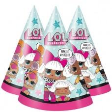 L.O.L Surprise Paper Party Hats 8 units