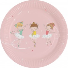 8 Plates Little Dancer Paper Round 17.7 cm