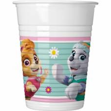 Paw Patrol Skye and Everest plastic cups - 200ml - 8pcs