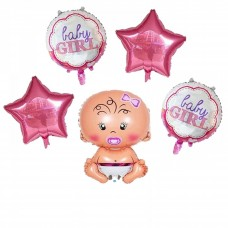 "Foil Balloon set ""Baby Girl"" - 5 Pcs"