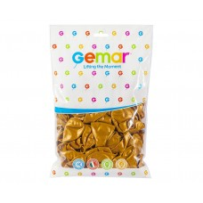 "Balloon GM90 metal 10"", gold, 100 pieces"
