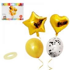 Balloon bouquet - gold, 10 pcs