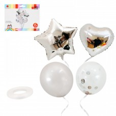 Balloon bouquet - silver, 10 pcs