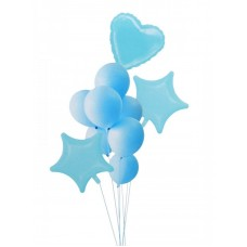 "Balloon bouquet ""Macaron"" light blue, 10pcs"
