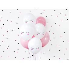 Balloons 30cm Smiley, Pastel Pure White (1 pc.)