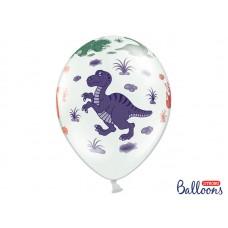Balloons 30cm, Dinosaurs, Pastel Pure White (5 pc.)