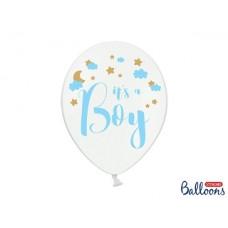 Balloons 30cm, It's a Boy, Pastel Pure White 6 pc.