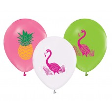 "Balloons Flamingo & Pineapple, 12"" / 5 pcs."