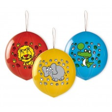 "Balloons Premium ""Animals"", ball shape with rubber band, 3 pieces"