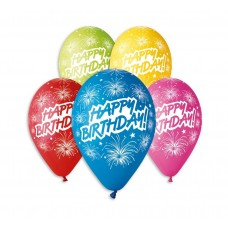 "Balloons Happy Birtdhay, 12"" / 5 pcs."