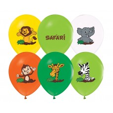 "Balloons Safari, 12"" / 5 pcs."