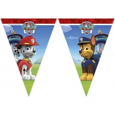 Banner Paw Patrol - Ready For Action, triangle flags - 2.3m
