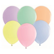 Balloons, macaron colours assorted 30cm - 6 pcs.