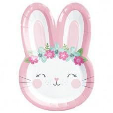 1 Birthday Bunny Shaped Plate - 21cm  - 1 unit