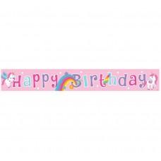 "Birthday banner ""Rainbow Unicorn"", 183cm"