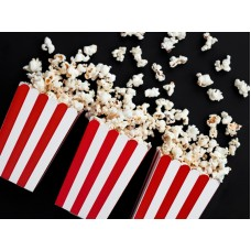 Boxes for popcorn, mix, 7x7x12.5cm (1 pack / 6 pc.)
